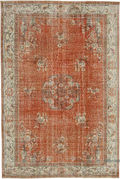 """Vintage Turkish Hand-knotted Area Rug - 6' 11"""" x 10' 4"""" (83 in. x 124 in.)"""