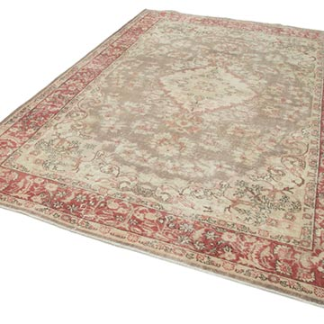 """Vintage Turkish Hand-Knotted Rug - 7' 2"""" x 10' 4"""" (86 in. x 124 in.) - K0049084"""