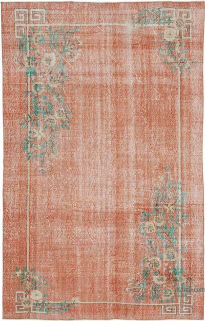 Vintage El Dokuma Anadolu Halısı - 206 cm x 321 cm