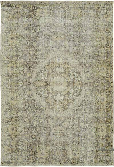 "Vintage Turkish Hand-knotted Area Rug - 7' 1"" x 10' 4"" (85 in. x 124 in.)"