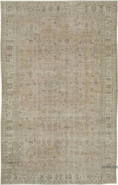 "Vintage Turkish Hand-knotted Area Rug - 6' 8"" x 10' 7"" (80 in. x 127 in.)"