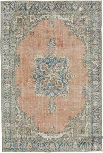 """Vintage Turkish Hand-Knotted Rug - 6' 10"""" x 10' 3"""" (82 in. x 123 in.)"""