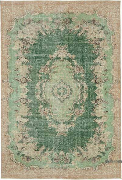 "Vintage Turkish Hand-knotted Area Rug - 6' 11"" x 10' 3"" (83 in. x 123 in.)"