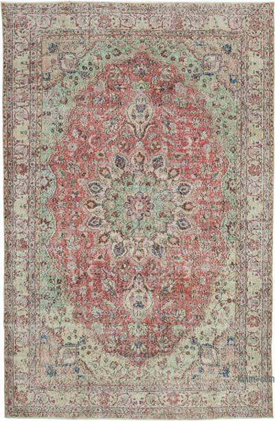 "Vintage Turkish Hand-knotted Area Rug - 7' 1"" x 10' 11"" (85 in. x 131 in.)"
