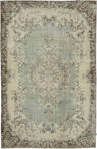 """Vintage Turkish Hand-knotted Area Rug - 6' 10"""" x 10' 4"""" (82 in. x 124 in.)"""