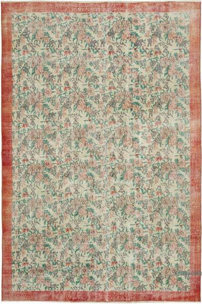 "Vintage Turkish Hand-knotted Area Rug - 7'  x 10' 2"" (84 in. x 122 in.)"