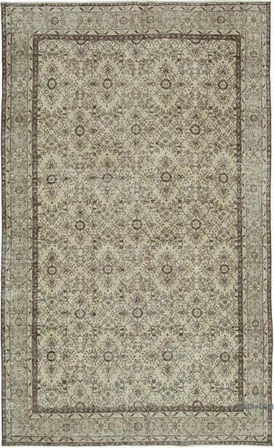 """Vintage Turkish Hand-knotted Area Rug - 6' 9"""" x 10' 11"""" (81 in. x 131 in.)"""