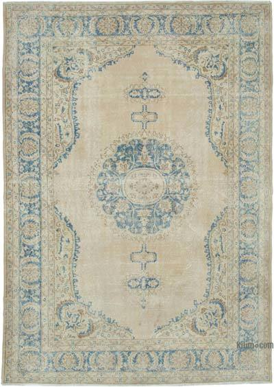 """Vintage Turkish Hand-knotted Area Rug - 7' 2"""" x 10' 2"""" (86 in. x 122 in.)"""
