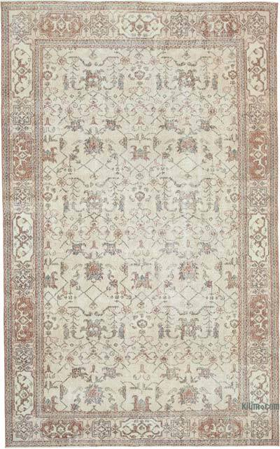 """Vintage Turkish Hand-Knotted Rug - 6' 9"""" x 10' 10"""" (81 in. x 130 in.)"""