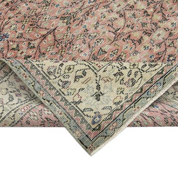 """Vintage Turkish Hand-Knotted Rug - 7'  x 10' 1"""" (84 in. x 121 in.) - K0049124"""