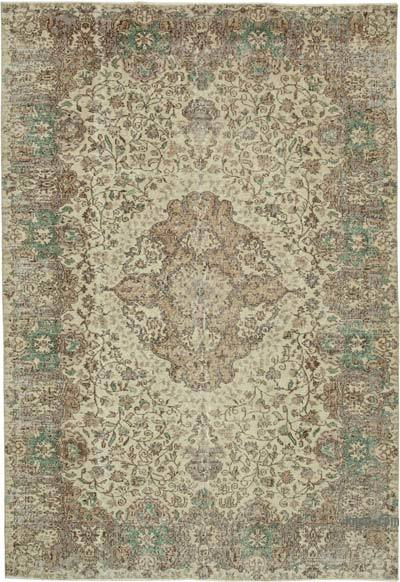 """Vintage Turkish Hand-Knotted Rug - 7' 2"""" x 10' 4"""" (86 in. x 124 in.)"""