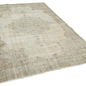"""Vintage Turkish Hand-Knotted Rug - 6' 8"""" x 10' 8"""" (80 in. x 128 in.) - K0049128"""