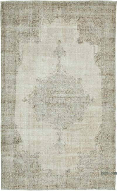 """Vintage Turkish Hand-Knotted Rug - 6' 8"""" x 10' 8"""" (80 in. x 128 in.)"""