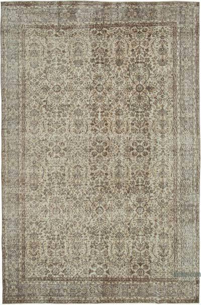 Vintage El Dokuma Anadolu Halısı - 215 cm x 318 cm