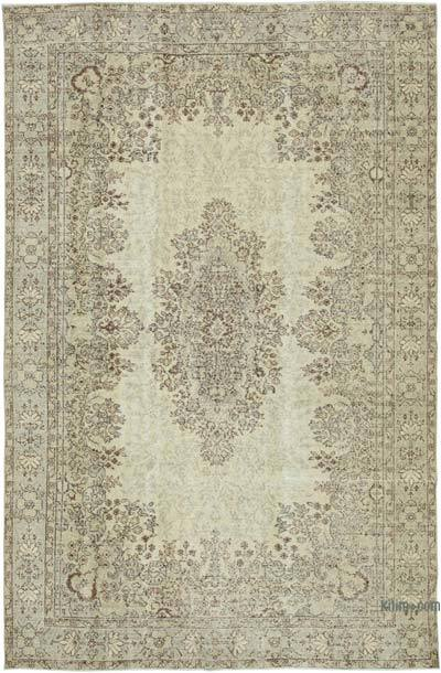 """Vintage Turkish Hand-knotted Area Rug - 6' 8"""" x 10' 7"""" (80 in. x 127 in.)"""