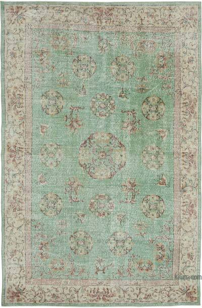 "Vintage Turkish Hand-knotted Area Rug - 6' 10"" x 10' 8"" (82 in. x 128 in.)"