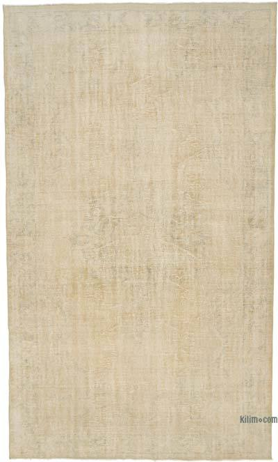 """Vintage Turkish Hand-knotted Area Rug - 6' 7"""" x 10' 8"""" (79 in. x 128 in.)"""