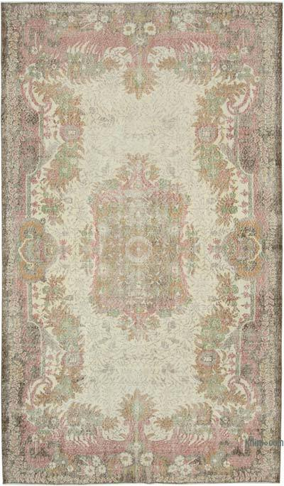 "Vintage Turkish Hand-knotted Area Rug - 6' 5"" x 11'  (77 in. x 132 in.)"