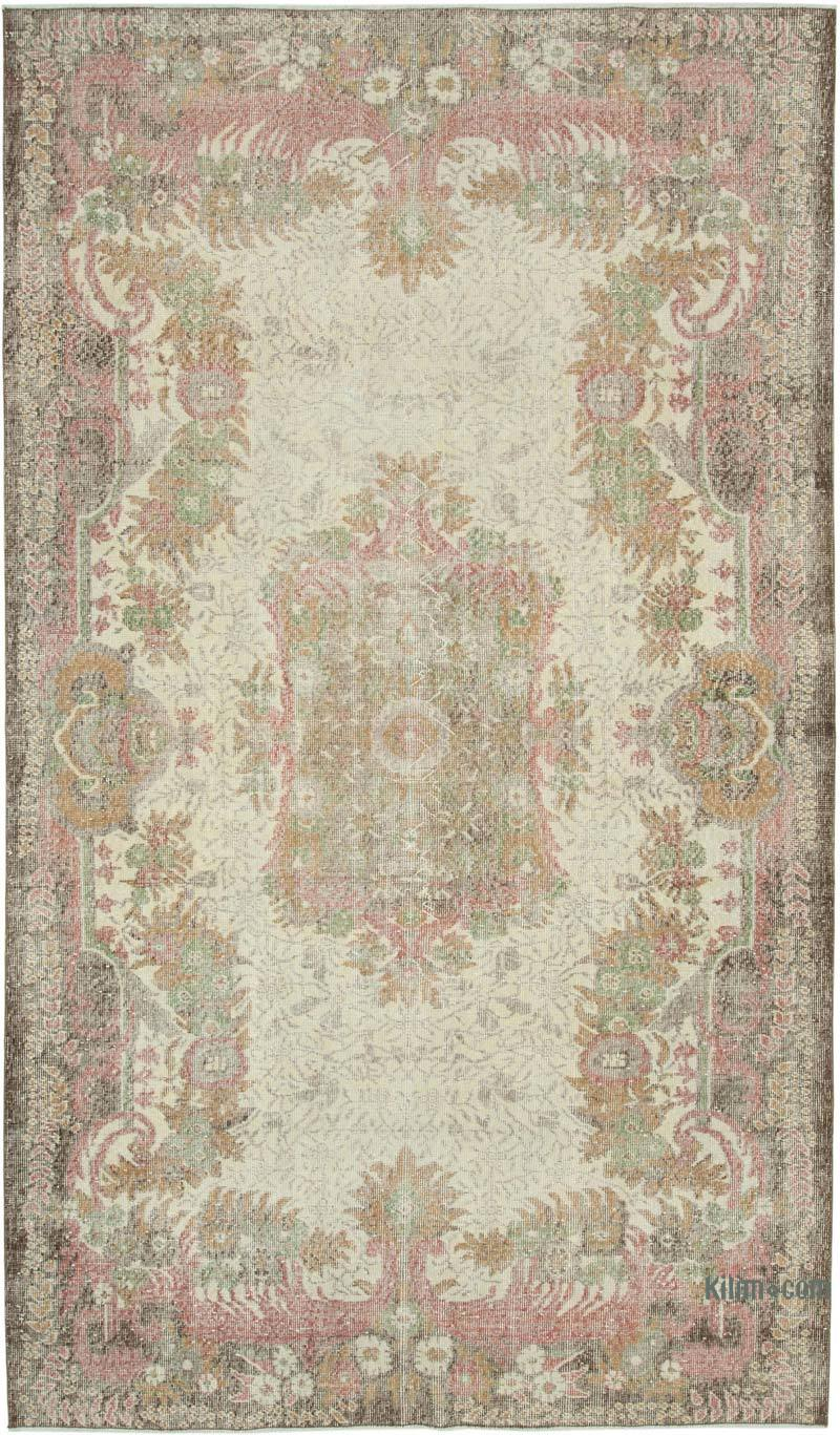 """Vintage Turkish Hand-Knotted Rug - 6' 5"""" x 11'  (77 in. x 132 in.) - K0049141"""