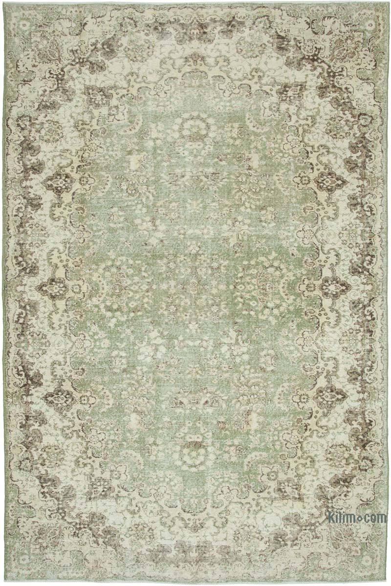 """Vintage Turkish Hand-Knotted Rug - 7' 1"""" x 10' 8"""" (85 in. x 128 in.) - K0049143"""
