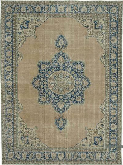 """Vintage Turkish Hand-knotted Area Rug - 7' 8"""" x 10' 4"""" (92 in. x 124 in.)"""