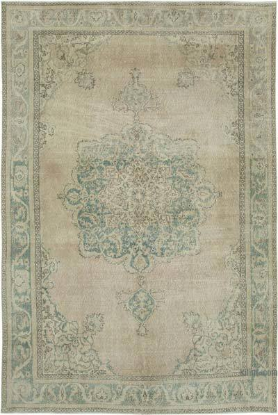 """Vintage Turkish Hand-Knotted Rug - 7'  x 10' 5"""" (84 in. x 125 in.)"""