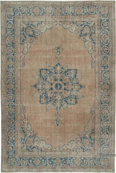 """Vintage Turkish Hand-Knotted Rug - 7' 5"""" x 11'  (89 in. x 132 in.)"""