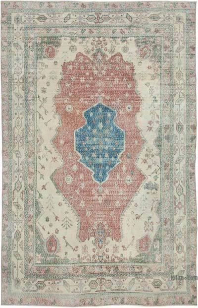Vintage El Dokuma Anadolu Halısı - 211 cm x 326 cm