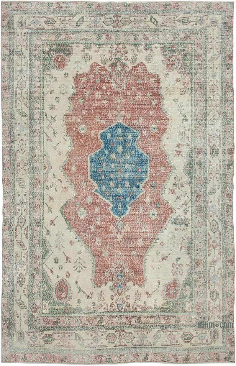 Vintage El Dokuma Anadolu Halısı - 211 cm x 326 cm - K0049156