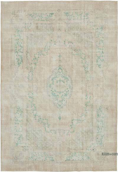 "Vintage Turkish Hand-knotted Area Rug - 7'  x 10' 4"" (84 in. x 124 in.)"