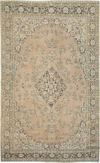 "Vintage Turkish Hand-knotted Area Rug - 6' 11"" x 11' 5"" (83 in. x 137 in.)"