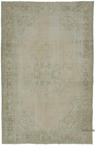 "Vintage Turkish Hand-knotted Area Rug - 6' 9"" x 10' 6"" (81 in. x 126 in.)"