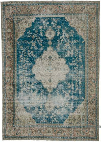 "Vintage Turkish Hand-knotted Area Rug - 7' 8"" x 10' 9"" (92 in. x 129 in.)"