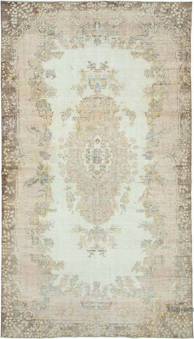 "Vintage Turkish Hand-knotted Area Rug - 6' 5"" x 11' 5"" (77 in. x 137 in.)"