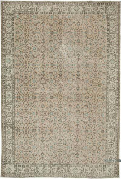 "Vintage Turkish Hand-knotted Area Rug - 7' 1"" x 10' 6"" (85 in. x 126 in.)"