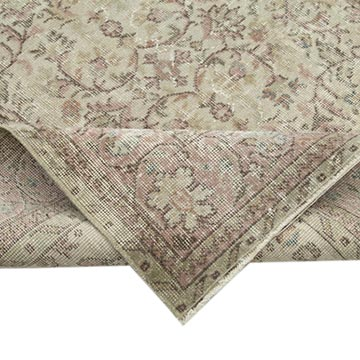 """Vintage Turkish Hand-Knotted Rug - 7' 4"""" x 10' 7"""" (88 in. x 127 in.) - K0049168"""