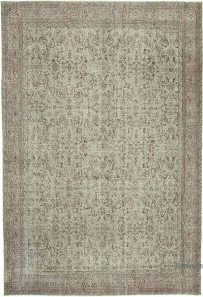 "Vintage Turkish Hand-knotted Area Rug - 7' 4"" x 10' 7"" (88 in. x 127 in.)"
