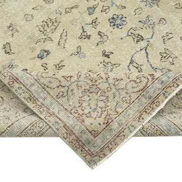 """Vintage Turkish Hand-Knotted Rug - 7' 1"""" x 11'  (85 in. x 132 in.) - K0049169"""