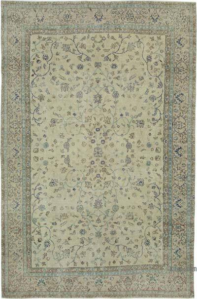 "Vintage Turkish Hand-knotted Area Rug - 7' 1"" x 11'  (85 in. x 132 in.)"