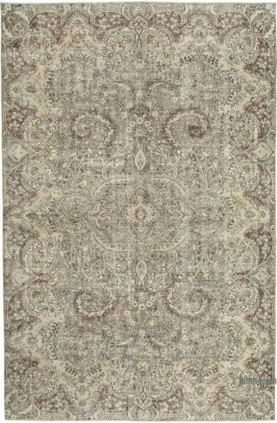 Vintage El Dokuma Anadolu Halısı - 205 cm x 308 cm