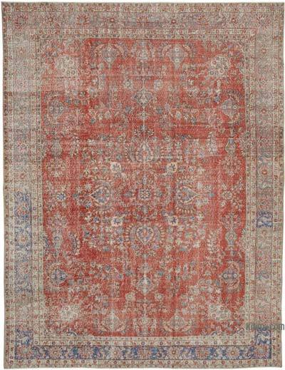"Vintage Turkish Hand-knotted Area Rug - 8' 5"" x 11' 3"" (101 in. x 135 in.)"