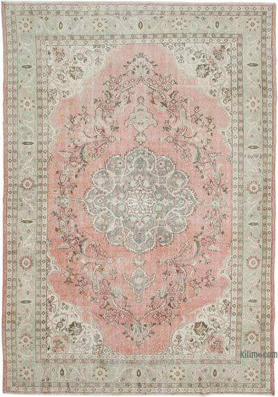 "Vintage Turkish Hand-knotted Area Rug - 7' 10"" x 11' 1"" (94 in. x 133 in.)"