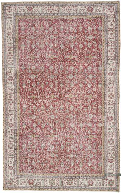 "Vintage Turkish Hand-knotted Area Rug - 6' 8"" x 10' 8"" (80 in. x 128 in.)"