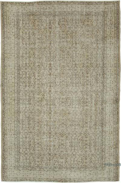 """Vintage Turkish Hand-knotted Area Rug - 6' 11"""" x 10' 6"""" (83 in. x 126 in.)"""
