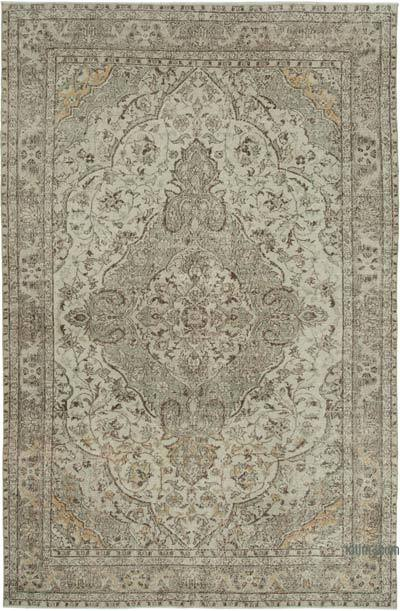 "Vintage Turkish Hand-knotted Area Rug - 7' 1"" x 10' 10"" (85 in. x 130 in.)"
