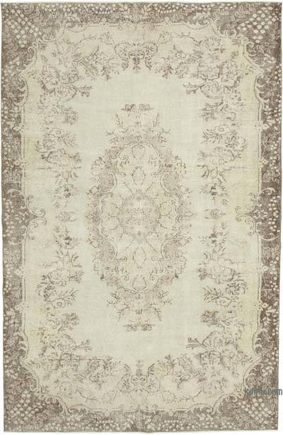 "Vintage Turkish Hand-knotted Area Rug - 6' 9"" x 10' 2"" (81 in. x 122 in.)"