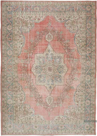 "Vintage Turkish Hand-knotted Area Rug - 7' 10"" x 10' 10"" (94 in. x 130 in.)"