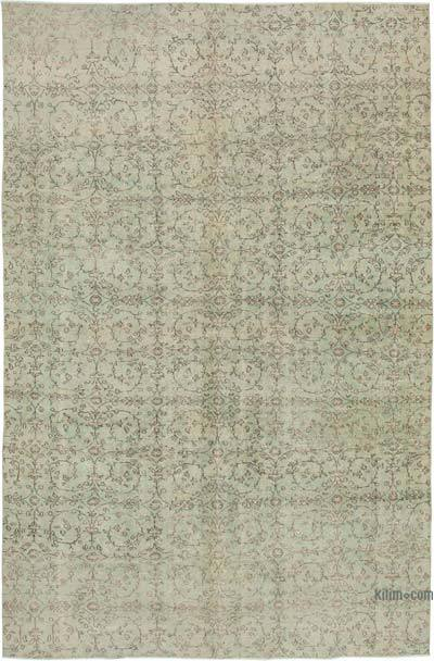 "Vintage Turkish Hand-knotted Area Rug - 6' 9"" x 10' 10"" (81 in. x 130 in.)"