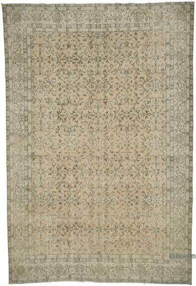 """Vintage Turkish Hand-knotted Area Rug - 6' 10"""" x 10' 5"""" (82 in. x 125 in.)"""