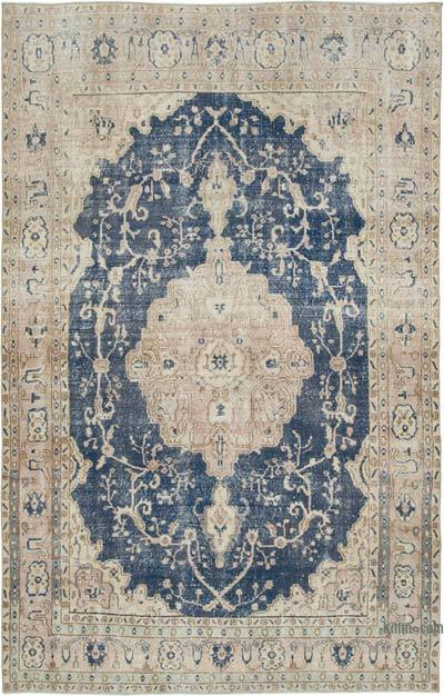 "Vintage Turkish Hand-knotted Area Rug - 6' 8"" x 10' 10"" (80 in. x 130 in.)"